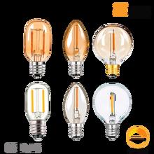G40 C7 T22 T20 Vintage LED Filament Light Bulb 1W 2200K E12 E14 110V 220V Gold Tint Dimmable Lamp Decorative Chandelier Light