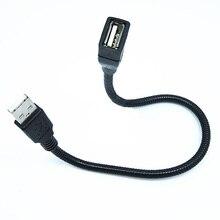 35 см Гибкий металлический USB кабель-удлинитель для мужчин и женщин удлинитель шнура для передачи данных мини USB кабель-удлинитель