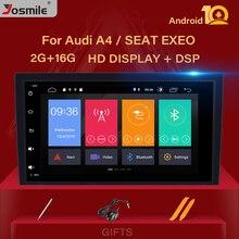 Nuevo reproductor de Radio Android 10 para coche Audi A4 B6 B7 S4 B7 B6 RS4 B7 asiento Exeo 2002-2008 navegación GPS SWC estéreo BT OBD2 Cámara