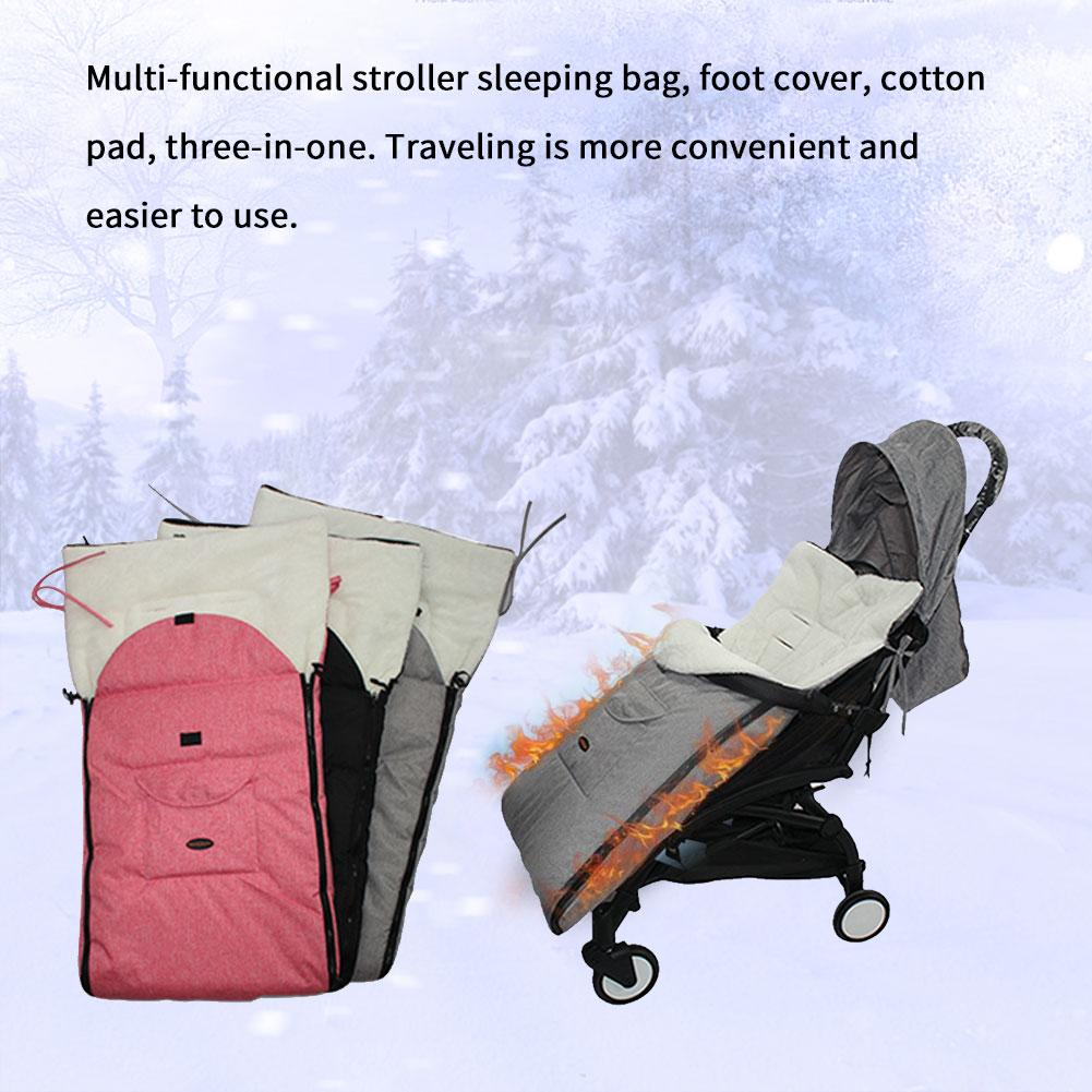 Baby Stroller Seat Cover Multi-functional Stroller Sleeping Bag Windproof Warm Foot Cover Cotton Cushion