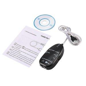 USB аудио кабель для подключения к электрогитаре, подключение к компьютеру для ПК MAC MP3 запись XP с Драйвером