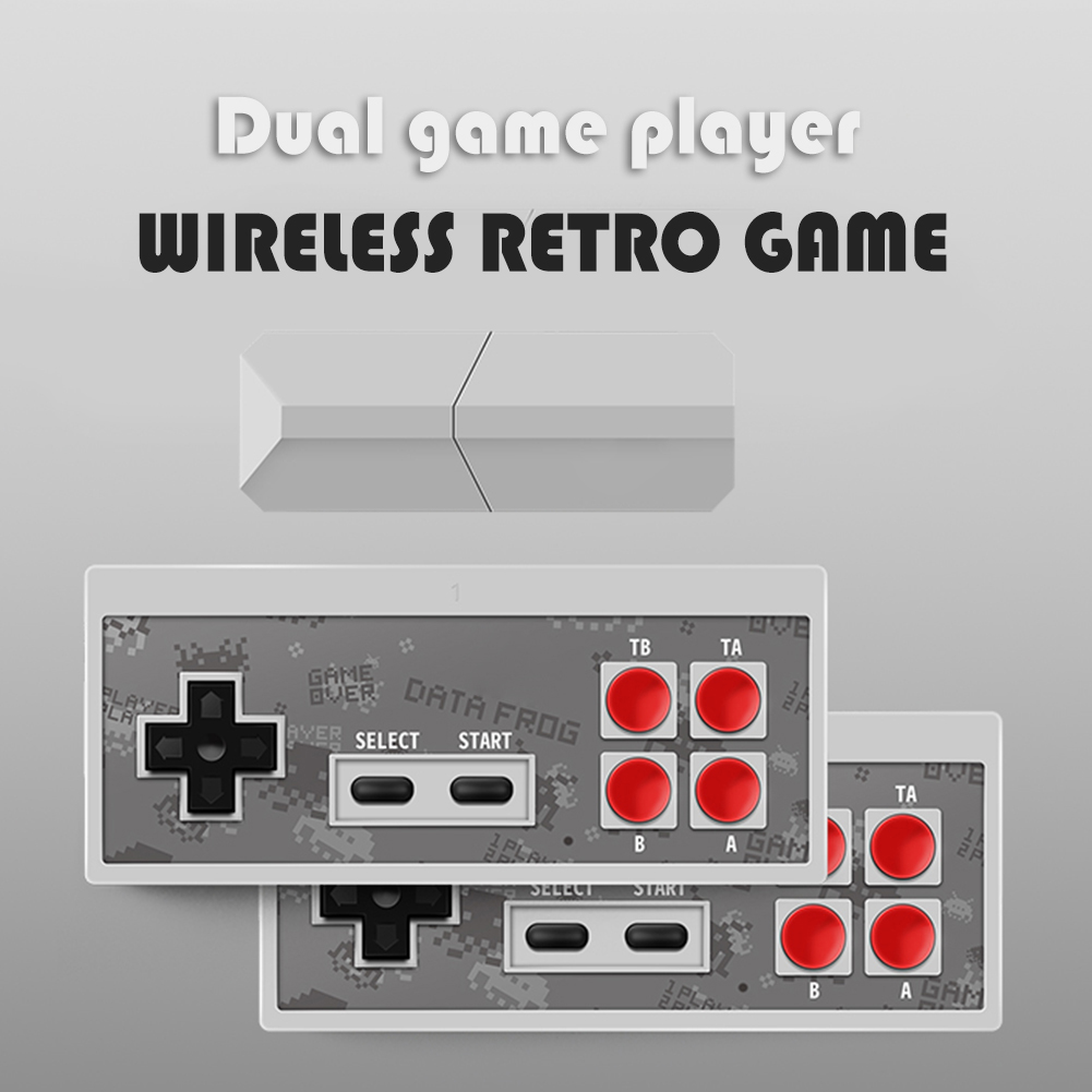 Mini 4K HD TV Video Game Console Built-in 600 Retro Games Mini Classic Console Wireless Controller AV Output Dual Players