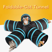 Outdoor Foldable Pet Tunnel Cat Accessories Educational Toys Tent Indoor Training Toy Cat Rabbit Animal Play Tunnel Tube Cage K(China)
