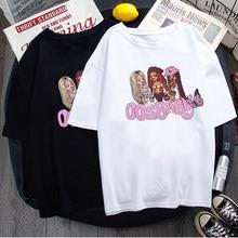 Camisetas con letras Bratz párr mujer Tops blancos informal... camisetas Harajuku de manga corta con estampado Y2k... ropa de cal