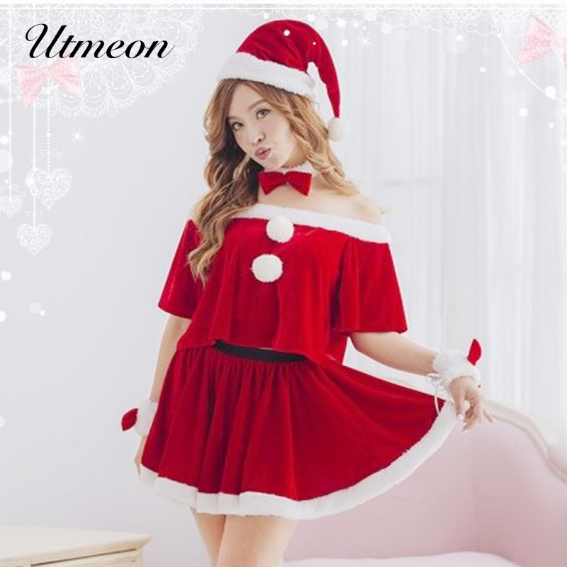 UTMEON <font><b>Sexy</b></font> <font><b>Christmas</b></font> <font><b>Costumes</b></font> Santa Claus For Adults Cosplay for <font><b>Christmas</b></font> Santa <font><b>Outfit</b></font> Plus Size XL/XXL image