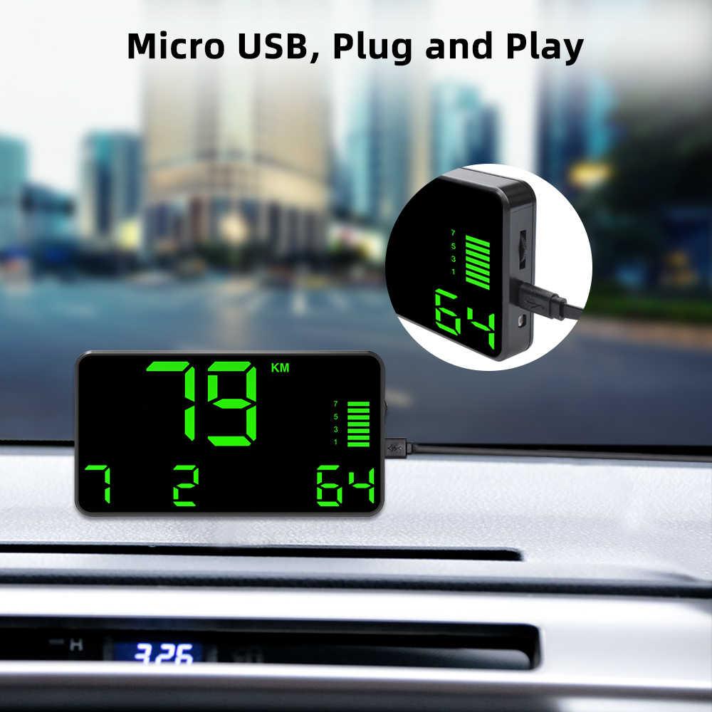 Deelife GPS Speedometer HUD จอแสดงผล Head Up KMH MPH ความเร็ววัดระยะทางดิจิตอลกระจก Auto Bright HeadUp สำหรับ Moto รถจักรยานยนต์