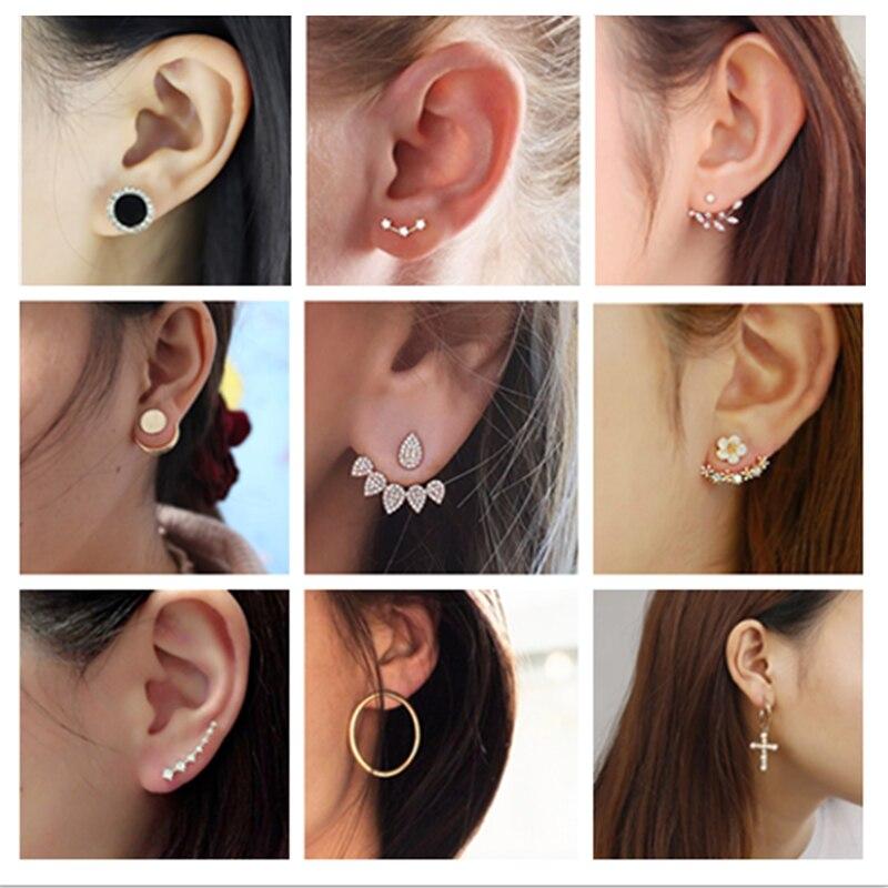 Neue Mode Schmuck Blatt Gestüt Korea Ohrringe Für Frauen 2019 Heißer Verkauf 1 Pair Geometrische Manschette Gold-farbe Ohrring großhandel Preis