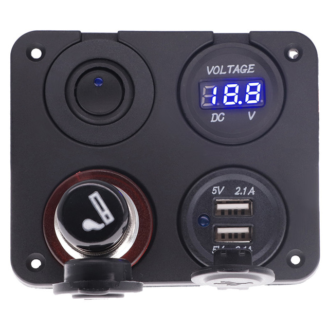 Led rocker switch panel with digit