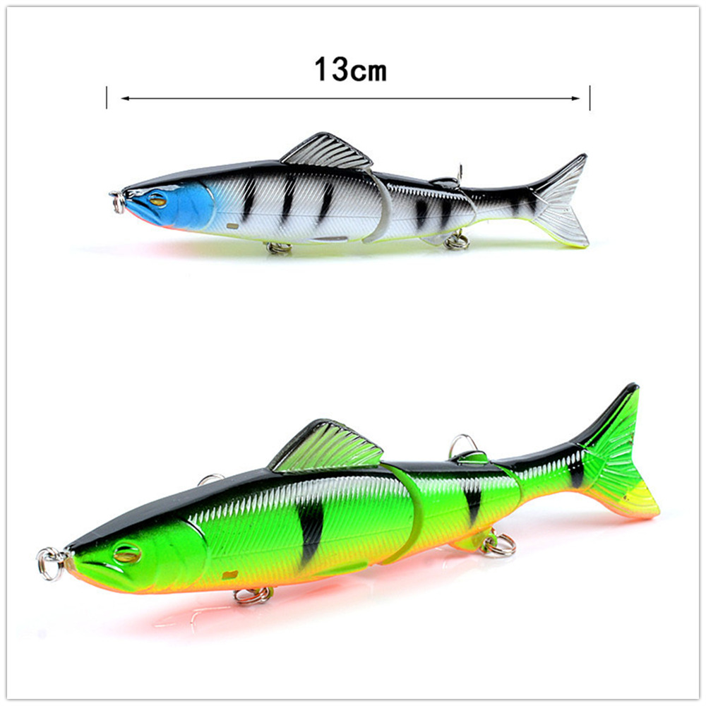 1PCS Ring Fishing Minnow Lure130mm/20.6g Artificial Articulated Multiple Sections Flexibility Hinge Crankbait Wobblers Hard Bait