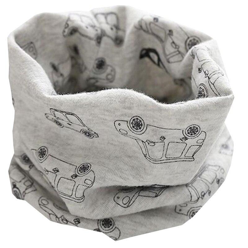 Новинка; сезон осень-зима; шарф из хлопка для девочек; Детский шарф; нагрудный шарф для мальчиков и девочек с круглым кольцом; милый детский шарф с воротником; Bufandas - Цвет: gray car