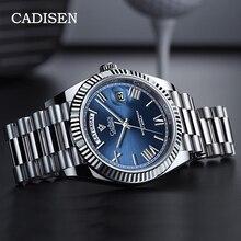 Cadisen Automatische Horloge Mannen Sport Top Merk Luxe Mechanische Horloge Mens 2021 Rvs Waterdicht Miyota 8285 Klok