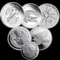 Австралийская монета с одной тройной огранкой, Посеребренная МОНЕТА 999 пробы, животное, паук, крокодил, коала, клин, Орел, коабурра, копия 1 до...