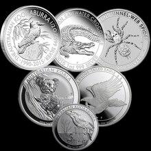 Replica-Coins Silver-Plated 1dollar Australia One-Troy-Oz Wedge Eagle Spider .999 Koala