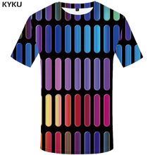 3d Tshirt Psychedelic T-shirt Men Colorful Printed Harajuku Funny T shirts Gothic T-shirts Abstract Shirt Print