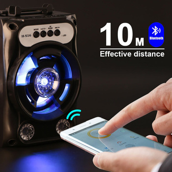 Bluetooth Speaker With Led Light for Outdoor Travel 6