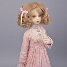 Muziwig new style BJD/SD Dolls Wig Hair Heat Resistant Wire short Curly Wigs for 1/3 1/4 Dolls accessories muziwig new style bjd sd dolls wig hair heat resistant wire short curly wigs for 1 3 1 4 dolls accessories