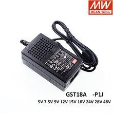Original MEAN WELL GST18A-P1J Serie AC-DC Industrielle Adapter 5V 7V 9V 12V 15V 18V 24V 28V 48V Meanwell Schalt Netzteil