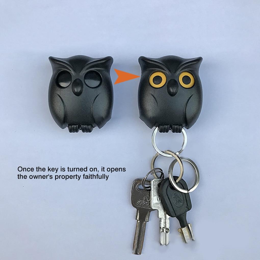 1 PCS Owl Night Wall Magnetic Key Holder Magnets Hold Keychain Key Hanger Hook Hanging Key Will Open Eyes