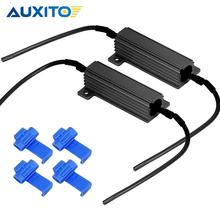 AUXITO 2Pcs 50W 6OHM 6RJ Universal Load Resistor for Fix Car LED Turn Signal Bulb Fast Hyper Flash Blinking Error Code Canceler