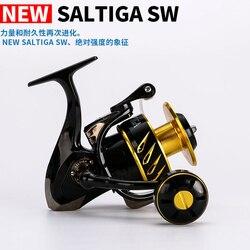 Madmouse, JAPÓN hizo Saltiga SW4000XG SW6000HG SW10000HG, carrete giratorio Jigging, carrete giratorio 12BB carrete de pescar de aleación 35kgs potencia de Arrastre