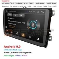 Android 9.0 9 2din Car DVD for POLO GOLF 5 6 POLO PASSAT B6 CC TIGUAN TOURAN EOS SHARAN SCIROCCO CADDY with 4G GPS Navi