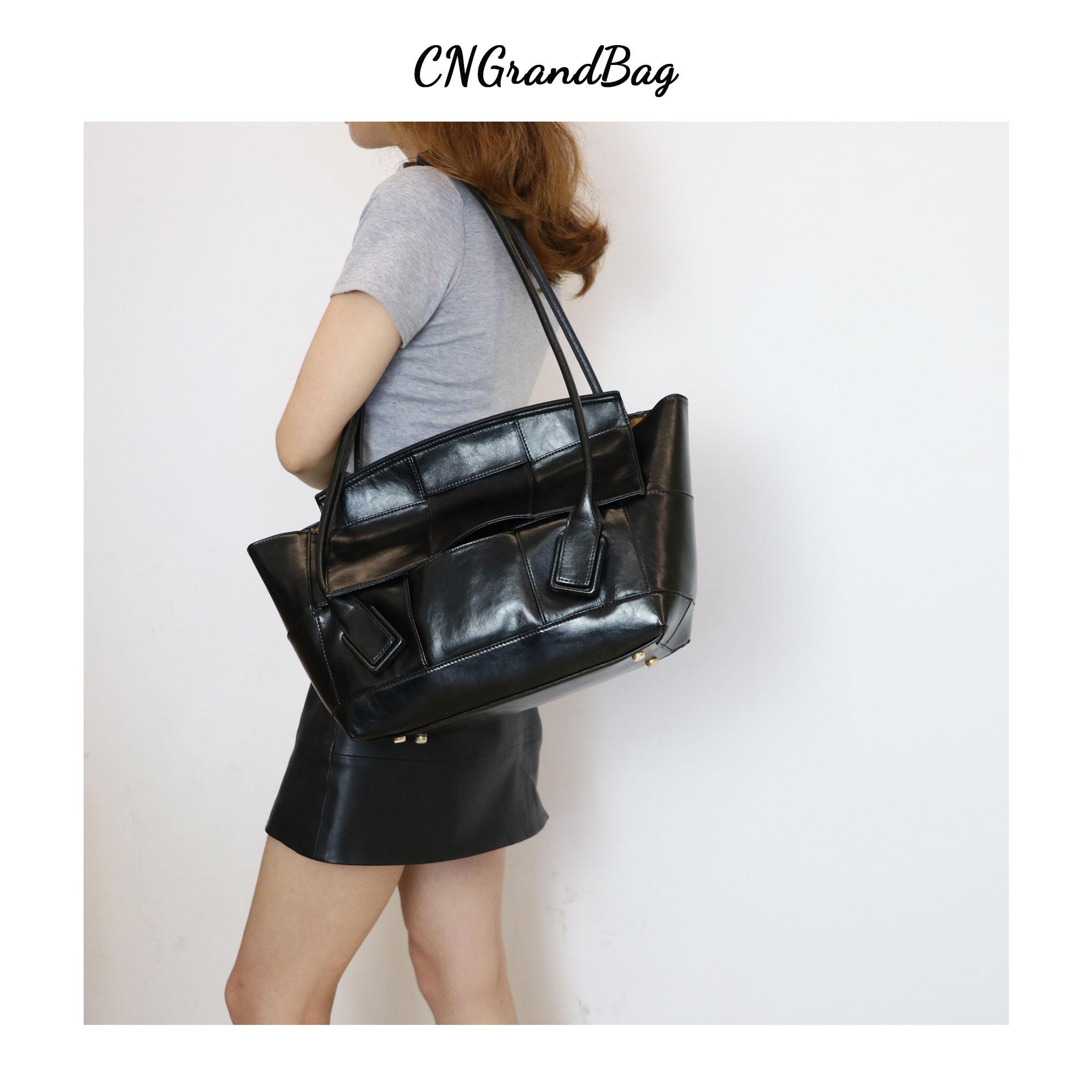 Кожаная сумка тоут Geninue с верхней ручкой, плетеная Женская сумочка тоут с изогнутыми ручками в форме дуги, мягкая кожаная сумка тоут|Сумки с ручками| | АлиЭкспресс