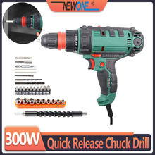 Perceuse à percussion filaire 300W, outil électrique, perceuse électrique/tournevis, perceuse à énergie avec mandrin à dégagement rapide de 10mm, couple maximal 40nm