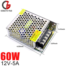 12V Switching Power Supply 5A 60W AC to DC LED Strip Power