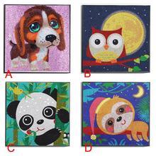5D Diamond Painting Cute Panda Dog Monkey Owl Embroidery Paintings DIY Cross Stitch Gift Decoration 5