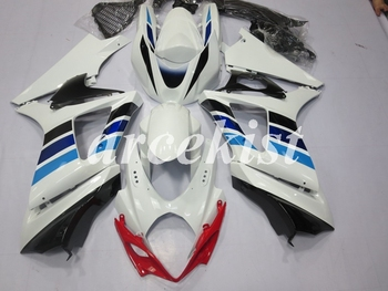 New ABS Motorcycle Full Fairings Kit Fit For SUZUKI GSX-R1000 GSXR1000 2007 2008 07 08 K7 body set White