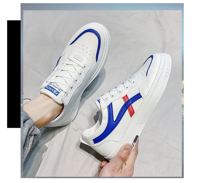 couro esportes sapatos casuais tênis de corrida