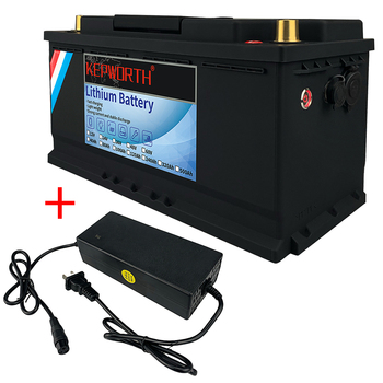 12V 120Ah LiFePO4 Battery Pack With BMS Lithium Power Golf Cart Batteries 3000 Cycles RV Campers Off-Road Off-grid Solar energy