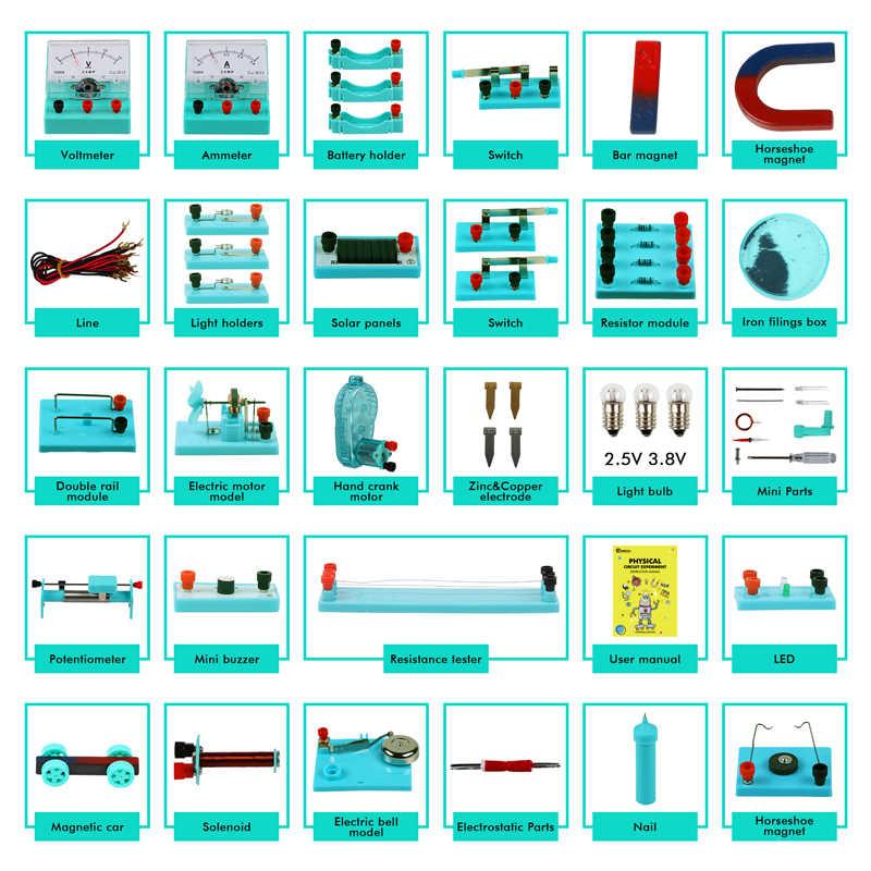 Kit Electronique De Bricolage D Experience Electrique De Circuit De Base De Science Physique De Tige De Cle Avec Le Manuel D Instruction Pour Des Etudiants Aliexpress