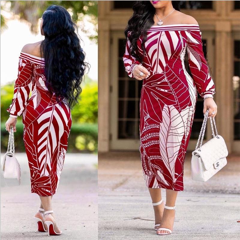 Umeko новое платье миди с открытыми плечами, летнее длинное платье в стиле бохо с рукавами епископа, женские клубные облегающие сарафаны, женские размеры 5XL, большие размеры
