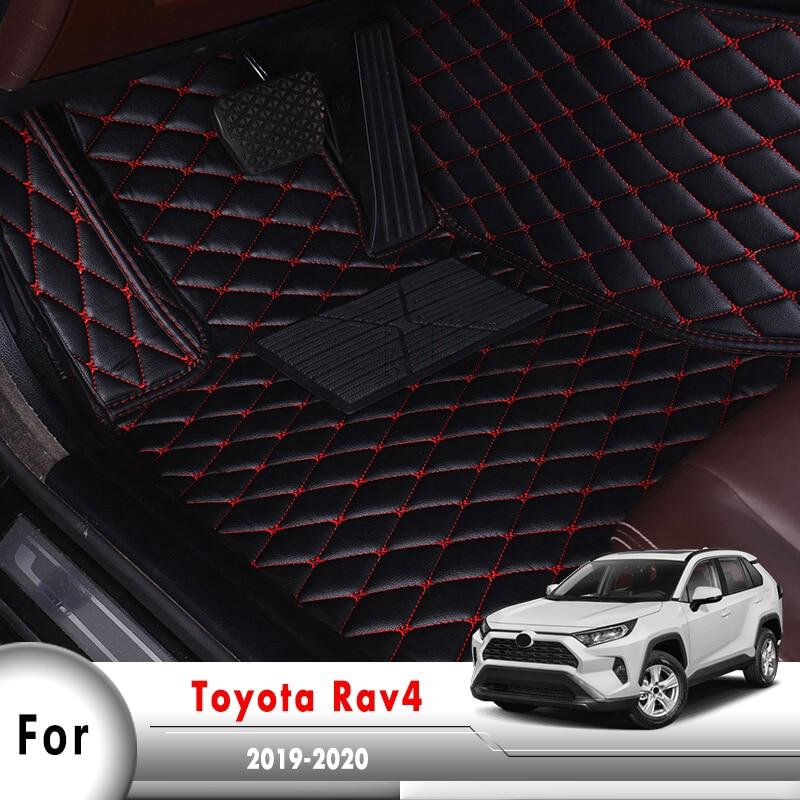 Автомобильные коврики, коврики для Toyota Rav4 XA50 50 2019 2020, автомобильные чехлы для интерьера, водонепроницаемые защитные коврики из кожи Rav 4