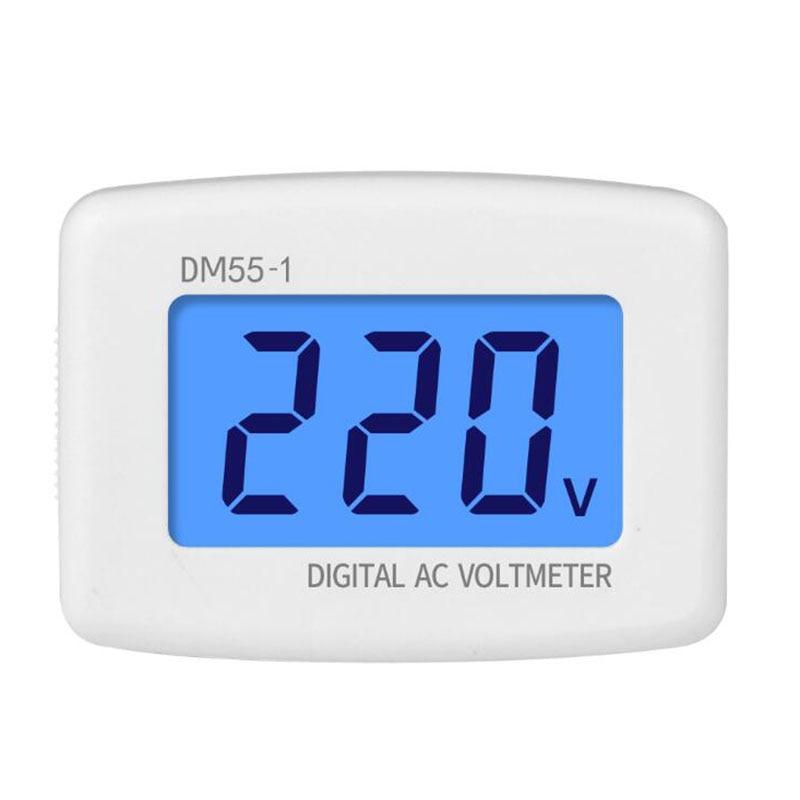 AC 80-300V voltmetro digitale EU US AU spina Volt Meter presa Tester di tensione Display LCD misuratore di tensione 110V 220V