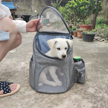 Portable mesh Dog/Cat Bag Breathable Dog Backpack Large Capacity Cat Carrying Bag Portable Outdoor Travel Pet Carrier 3