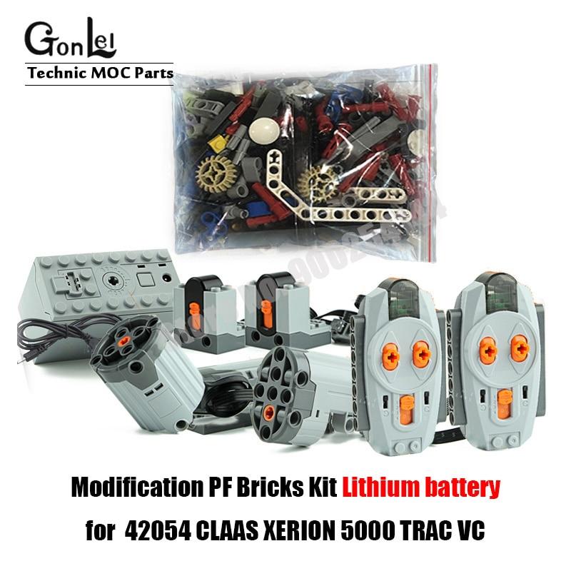 Новый мотор для модификации пульта дистанционного управления, набор кирпичей для 42054 CLAAS XERION 5000 TRAC VC высокотехнологичный строительный блок, кирпичи, игрушки для творчества 4