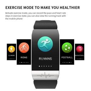 Image 5 - 2020 Smart Bracelet T1s with Body Temperature ECG Fitness Tracker Waterproof Heart Rate Monitor Smart Watch Sport Men Women Band