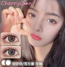 Cherrycon глубокий естественный контактные линзы цветной мягкий