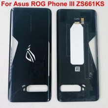 """מקורי חדש עבור 6.59 """"Asus ROG טלפון III ZS661KS ROG טלפון 3 3D זכוכית חזור סוללה כיסוי שיכון + זכוכית עדשה"""