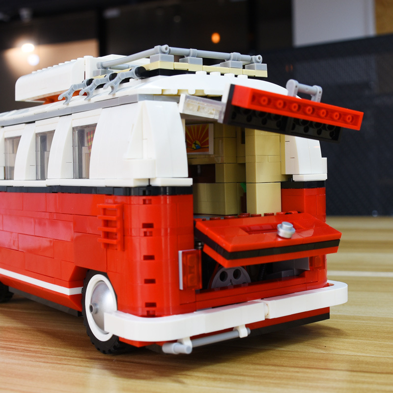 Bela 10569 Create Series City Car T1 Camper Van 21001 Building Blocks 1354pcs Bricks Toys Classical Automobile Creator 10220 in Blocks from Toys Hobbies