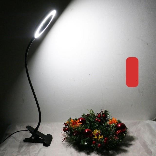 Top Grade USB Universal Hose Clip Lamp Adjustable Light Color Temperature Reading Eye-protection Lamp Munsu Beauty Hot Lamp 2