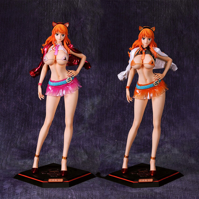 Anime One Piece GK Nami PVC Action <font><b>Figure</b></font> Toys Japan Anime <font><b>Sexy</b></font> Girl <font><b>Figure</b></font> Collectible Stature Doll Gift image