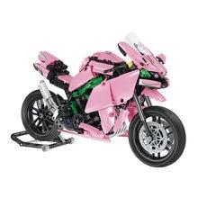 Diy assemable мотоцикл мини кирпичи развивающие игрушки для