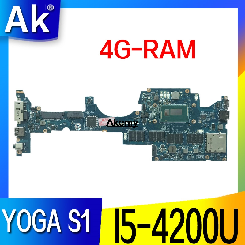 ZIPS1 LA-A341P Laptop Motherboard For Lenovo ThinkPad YOGA S1 Original Mainboard 4G-RAM I5-4200U