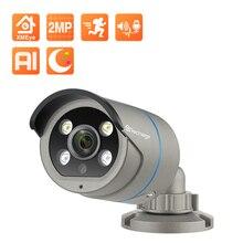 Techage 1080P POE IP Camera 2MP Home Smart AI Camera Outdoor impermeabile sicurezza Video CCTV telecamera di sorveglianza supporto ONVIF