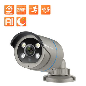 Image 1 - Techage 1080P POE IP Camera 2MP Home Smart AI Camera Outdoor impermeabile sicurezza Video CCTV telecamera di sorveglianza supporto ONVIF