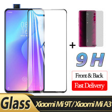 2-in-1 Front Glass + Back Film Xiaomi Mi 9T 3D for A3 Mi9T Screen Protector xiaomi mi 9t protective glass