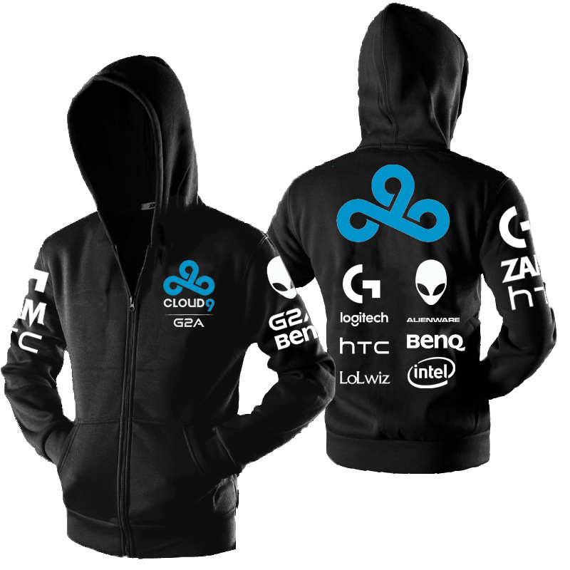 Cloud9 Autumn And Winter Official Uniforms C9 League Of Legends LOL Gaming Chicken Hoodie Hooded Shroud Coat Men's